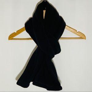 Lands' End black fleece scarf, NWOT